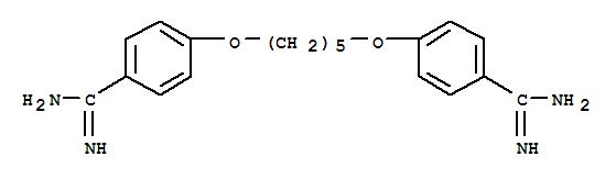 Benzenecarboximidamide,4,4'-[1,5-pentanediylbis(oxy)]bis-