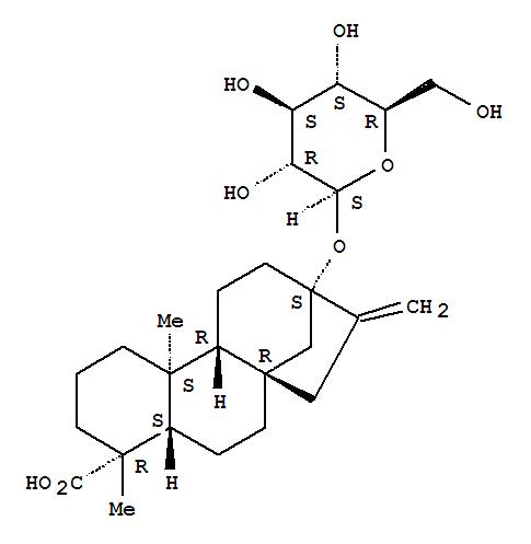 Kaur-16-en-18-oic acid,13-(b-D-glucopyranosyloxy)-, (4a)-