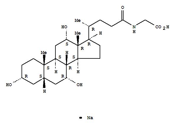 Glycine, N-[(3a,5b,7a,12a)-3,7,12-trihydroxy-24-oxocholan-24-yl]-,sodium salt (1:1)