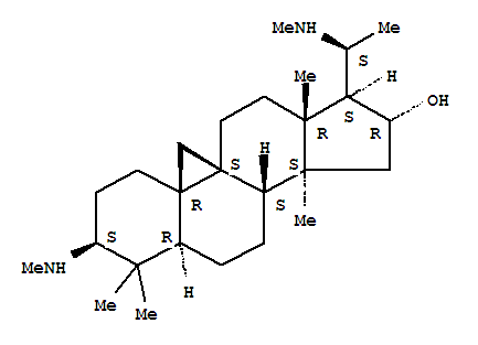 9,19-Cyclopregnan-16-ol,4,4,14-trimethyl-3,20-bis(methylamino)-, (3b,5a,16a,20S)-