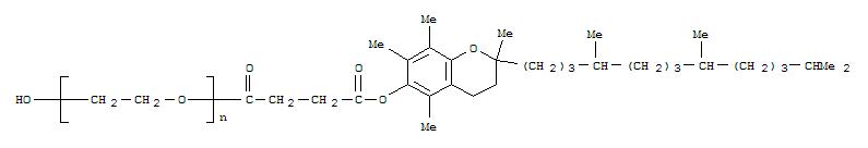 Poly(oxy-1,2-ethanediyl),a-[4-[[(2R)-3,4-dihydro-2,5,7,8-tetramethyl-2-[(4R,8R)-4,8,12-trimethyltridecyl]-2H-1-benzopyran-6-yl]oxy]-1,4-dioxobutyl]-w-hydroxy-