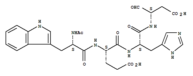 Acetyl-tryptyl-glutamyl-histidyl-aspartal
